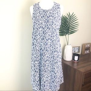 Tommy Hilfiger white and blue lace dress